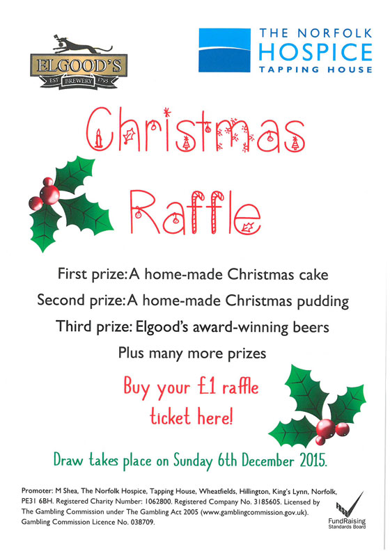 norfolk hospice christmas raffle elgoods brewery. Black Bedroom Furniture Sets. Home Design Ideas