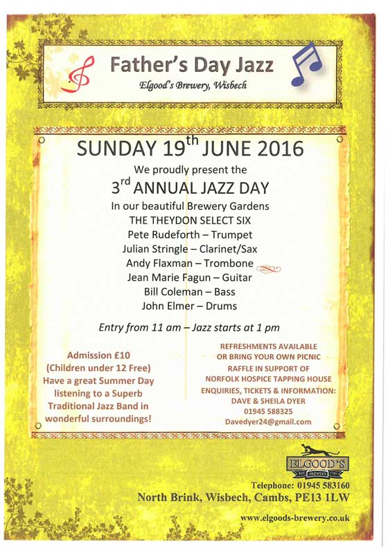 Jazz in the Garden Sunday 19th June 2016