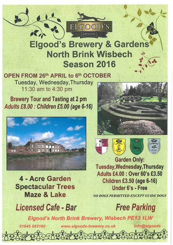 Elgoods brewery garden
