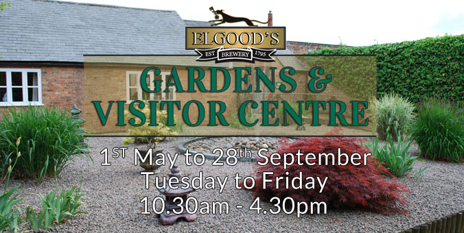 Elgood's Gardens and visitors centre Open 1st May until 28th September